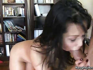 Billy Glide explores the depth of passionate Lana Violets wet slit with his...