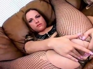 Passionate army slut in fishnets Nadia Sinn spreading her