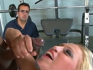 She does it as her husband watches. It is a big turn on for this redhead and...