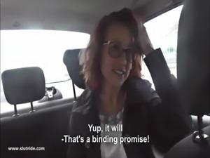 Redhead MILF does handjob, BJ and fucks with taxidriver free