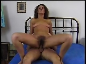 This hairy bush loves to get fucked by her unhairy friend