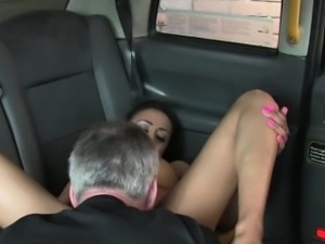Damn hot brunette loves Scottish cock