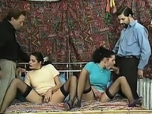 Black Hair Twins In Black Stockings - Pussy from CHEAT-MEET.