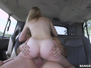 blonde lily having fun in the bang bus