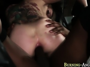 Tattooed bride takes bbc