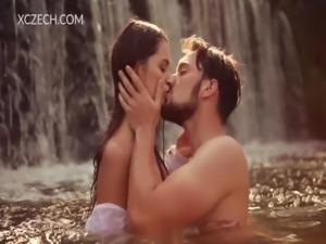 Beautiful czech girl is enjoying boy in the waterfall free