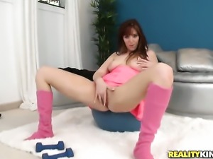 Redhead doll Lauren Phillips needs nothing but her mans hard sausage in her...