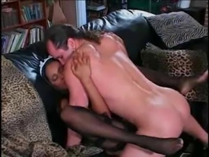 Black Maid fucked by white cock