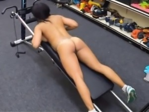 Gym trainer gets banged at the pawnshop to earn extra money