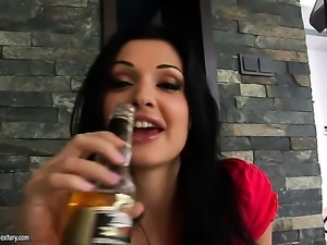 Aletta Ocean with giant hooters is ready to pose naked and masturbate day and...