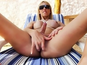 cute girl sucking her huge cock