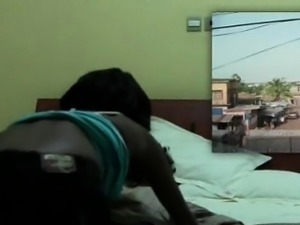 African hottie mouth fucking huge white shaft