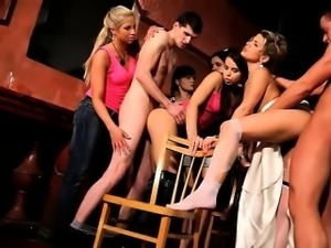 Naughty bride and her not-so-shy girlfriends share