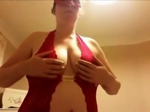Amateur BBW with really big boobs handjob