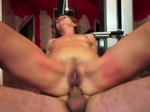 Granny anal sex after sport