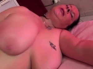 Chubby german mature eating a fat cock