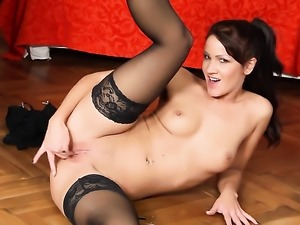 Tattoos Nia Black with tiny breasts and shaved cunt has some time to play...
