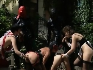 Fisting and anal sex in this interracial BDSM orgy