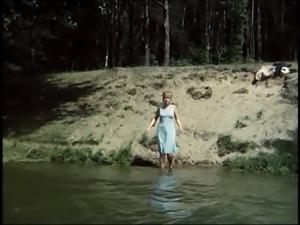 Village girl Bronka is wearing slip all time