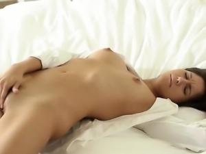 Perfect erotic movie of cheerleader babe