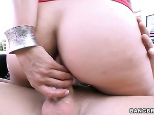 Milf Dana Vespoli needs nothing but a hard tool in her back swing to get...