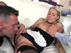 Christen's first double drilling makes her body shudder with pleasure