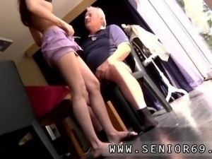 Cute old man and old granny shaved He asks if she can fix his raggy old