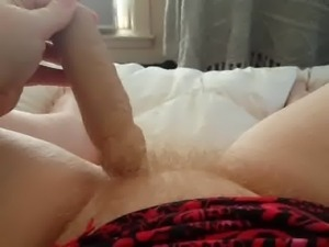 My GF's Wide Thick Blonde Hairy Pussy from her view pt 2