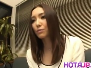 Nozomi Mashiro Asian doll gets pussy spread and masturbated