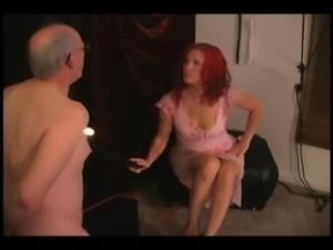 mistress slapping sub cock