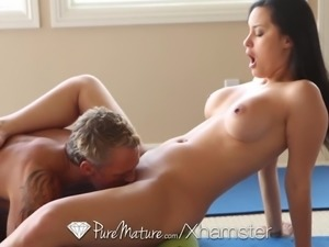 PureMature - Jessyca Wilson uses her yoga moves to fuck guy