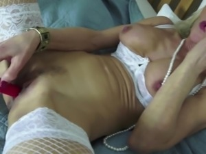 Sexy skinny granny needs a good fuck