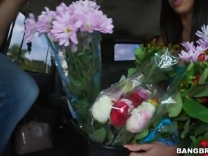 This Spanish guy, who runs in a flower shop, is taken away by a hot porn...