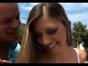 his young gf fucks with bald old man for money