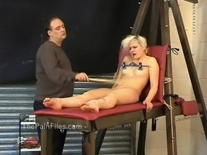 Kinky blondes foot fetish and spanking of crying slave girl Chaos in falaka...