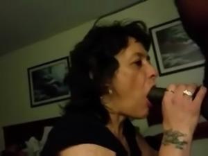 granny sucks a mean cock