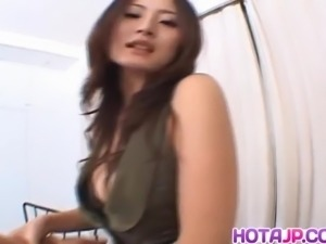 Japanese AV Model gets big fuck after blowjob