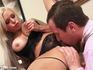 Hot MILF Boss Gets Fucked Hard On Her Desk!