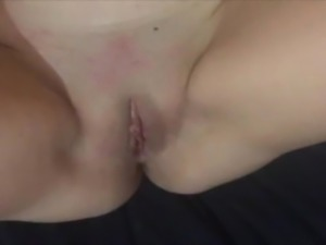 Spitting on and fingering my clean shaven pussy