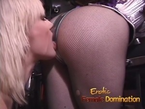 Sexy blonde will do anything to make her mistress happy