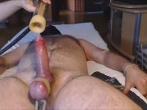 VENUS 2000 MILKER #3 me tease and milk hung alpha bear - balls tied