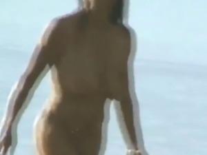saggy tits naked yoga on beach