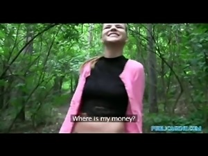 PublicAgent American slut talks dirty fucking outdoors in Prague