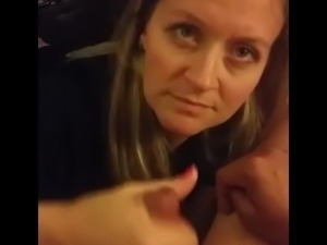 Cell phone video Wife Strokes & Sucks Hubby's Cock