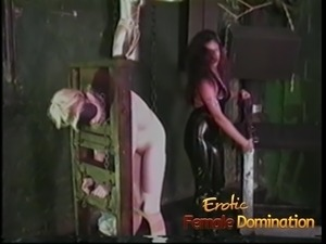 Curious blonde experiences a rough bdsm session in the Hell