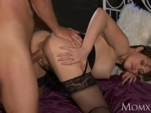 MOM Office woman in stockings wants rock hard cock