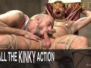 Cody Winter's Uncut Cock Edged and his Hole Ravaged with a Bad Dragon