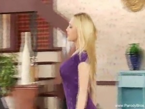 Parody Blonde Masturbation With Toy