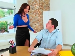 Special favor for a big tits boss