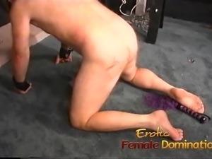 Two kinky brunette sluts enjoy fucking a horny well-hung